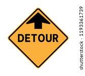 detour road sign | Shutterstock .eps vector #1193361739