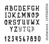 hand drawn typeface set... | Shutterstock .eps vector #1193363926