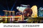monocular for sightseeing in... | Shutterstock . vector #1193364499
