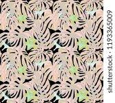 tropical print. jungle seamless ... | Shutterstock .eps vector #1193365009