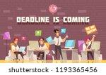 deadline is coming flat vector... | Shutterstock .eps vector #1193365456