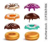 biscuits donuts frostings...   Shutterstock .eps vector #1193365486