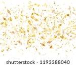 gold glossy realistic confetti... | Shutterstock .eps vector #1193388040