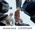 bottom view.business handshake | Shutterstock . vector #1193392609