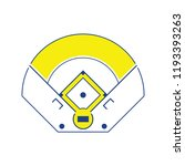 baseball field aerial view icon.... | Shutterstock .eps vector #1193393263