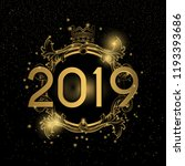 2019 happy new year background. ... | Shutterstock .eps vector #1193393686