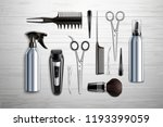 hairdressing tools realistic  | Shutterstock .eps vector #1193399059