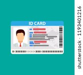 id card. identity card ... | Shutterstock .eps vector #1193401216