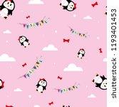 it's a girl penguin seamless... | Shutterstock .eps vector #1193401453