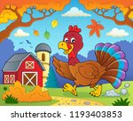 running turkey bird theme image ... | Shutterstock .eps vector #1193403853