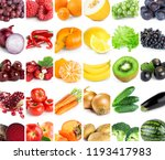 collection of color fruits and...   Shutterstock . vector #1193417983