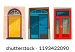 cute cartoon colored doors.... | Shutterstock .eps vector #1193422090