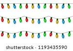 christmas lights string vector  ... | Shutterstock .eps vector #1193435590
