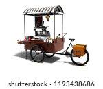 Modern Cart With Coffee Machine ...