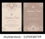 invitation card luxury template ... | Shutterstock .eps vector #1193438749