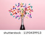 champagne bottle with colorful... | Shutterstock . vector #1193439913