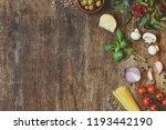 modern composition of fresh... | Shutterstock . vector #1193442190
