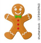 holiday gingerbread man cookie. ... | Shutterstock .eps vector #1193443963