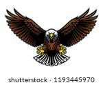 bald eagle wings open | Shutterstock .eps vector #1193445970