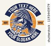 vintage badge design with eagle ... | Shutterstock .eps vector #1193445979