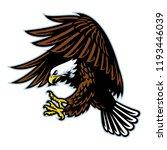 flying bald eagle | Shutterstock .eps vector #1193446039