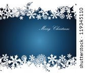 christmas border  snowflake... | Shutterstock .eps vector #119345110
