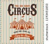 carnival banner. circus. fun... | Shutterstock . vector #1193451853