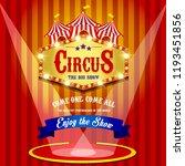 carnival banner. circus. fun... | Shutterstock . vector #1193451856