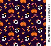 colorful halloween candy and... | Shutterstock .eps vector #1193453539