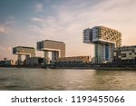 cologne skyline alongside the... | Shutterstock . vector #1193455066