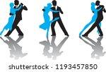 ballroom dance people | Shutterstock .eps vector #1193457850