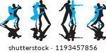 ballroom dance people | Shutterstock .eps vector #1193457856