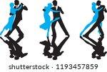 ballroom dance people | Shutterstock .eps vector #1193457859