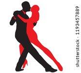 ballroom dance people | Shutterstock .eps vector #1193457889