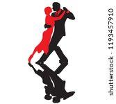 ballroom dance people | Shutterstock .eps vector #1193457910