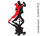 ballroom dance people | Shutterstock .eps vector #1193457913