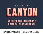 vector trendy 3d display font...   Shutterstock .eps vector #1193458609