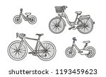 bicycle isolated hand drawn... | Shutterstock .eps vector #1193459623