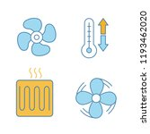 air conditioning color icons... | Shutterstock .eps vector #1193462020