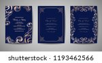 set of luxury vintage wedding... | Shutterstock .eps vector #1193462566