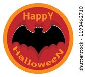 bat sticker icon for happy... | Shutterstock .eps vector #1193462710