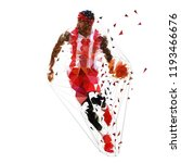 basketball player running with... | Shutterstock .eps vector #1193466676