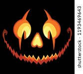 scary halloween pumpkin with a... | Shutterstock .eps vector #1193469643