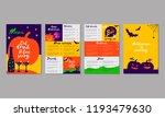 vector halloween menu template...   Shutterstock .eps vector #1193479630