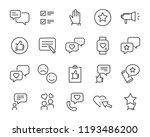 set of feedback line icons ... | Shutterstock .eps vector #1193486200