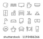 hotel line icons set  such as... | Shutterstock .eps vector #1193486266