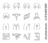 gynecology linear icons set.... | Shutterstock .eps vector #1193489389
