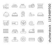 mattress linear icons set.... | Shutterstock .eps vector #1193489500