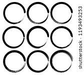 set of grunge circles  grunge... | Shutterstock .eps vector #1193493253