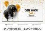 cyber monday sale background... | Shutterstock .eps vector #1193495800